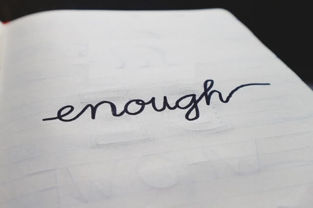 Enough - suicide note